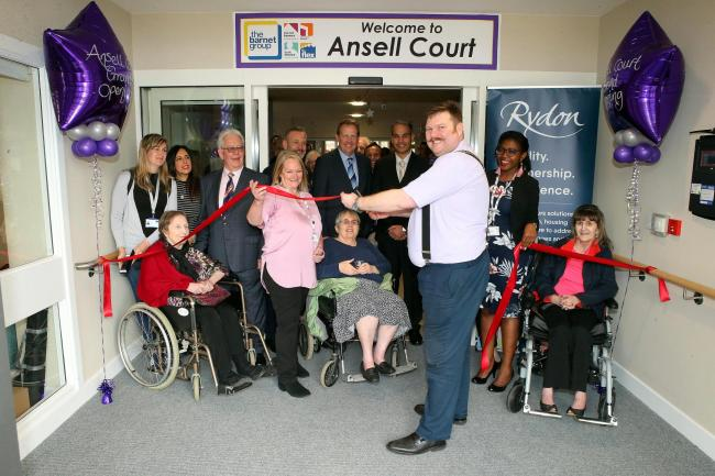 Barnet Mayor Reuben Thompstone opening the building