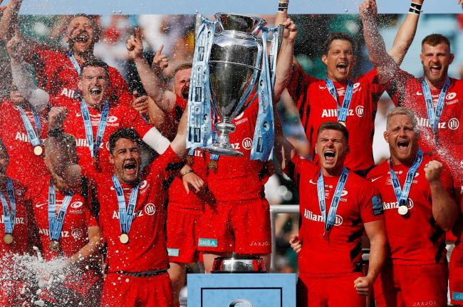 Saracens celebrate their thrilling Premiership final triumph. Picture: Action Images